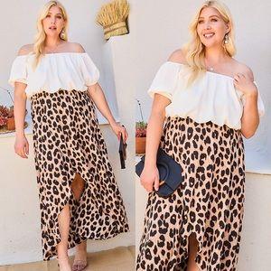 🚨24 HOUR SALE🚨Wild Ways Plus Size Leopard Dress